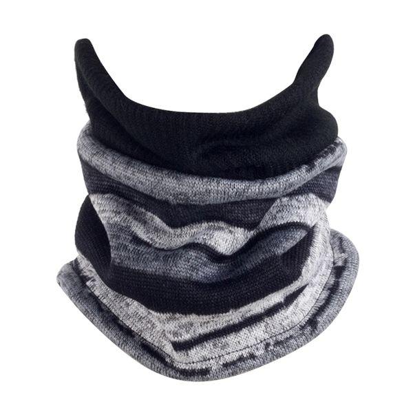 2018 зима мужчины женщины два способа вязаная шапка шарфа осень зима шнурок ребристое кольцо трубка шарф шеи унисекс теплее шапка шляпа