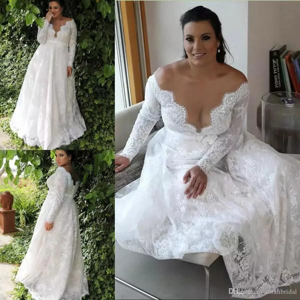 Robe de mariee taille empire dentelle