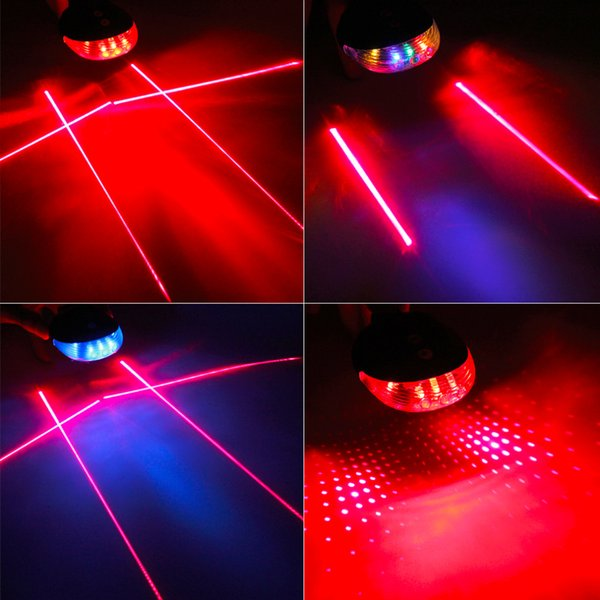 5 LED Laser Cycling Bike Light 3 Modes Flash Safety Rear Lamp Waterproof Laser Tail for 26-32mm Tube Diameter Free Shipping