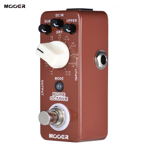MOOER PURE OCTAVE Mini Octave Guitar Effect Pedal 11 Modes True Bypass Full Metal Shell Guitar Parts & Accessories