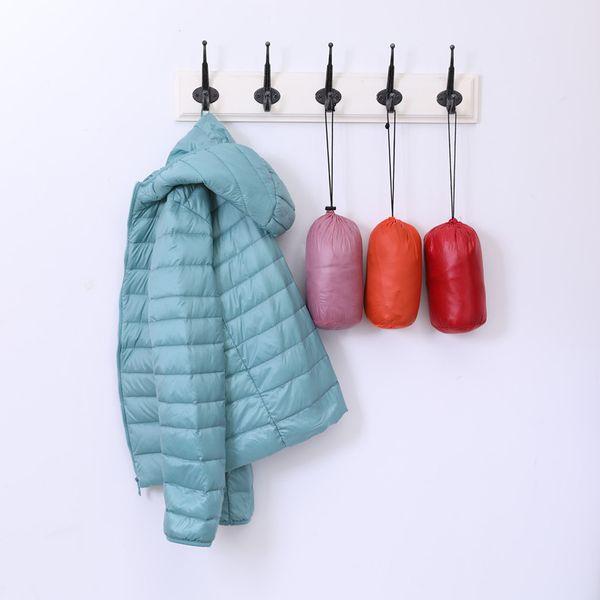 Frauen Winter Puffer Jacke Portable Daunenmantel Licht Ente Daunenjacke Mit Kapuze Slim Fit Windbreaker 2018 Heißer Verkauf