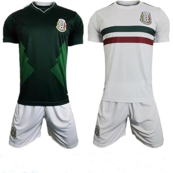0bd231b435704 DHL Free Shipping 2018 World Cup Jerseys Mexico Home Green Away White Ochoa  Chicharito Soccer Complate