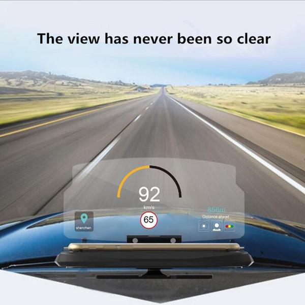 Universal Mobile Phone GPS Navigation HUD Car Holder Head Up Display Projector Bracket Image Reflector Smart Cell phone Holder Mount Stand