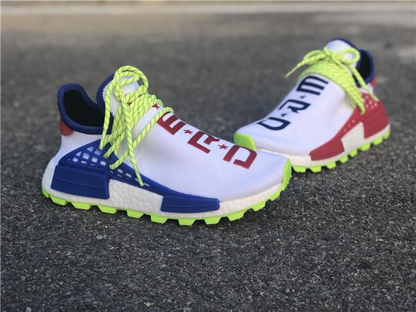 N.E.R.D x Hu Cheap Human Race pharrell ComplexCon Men Fashion Outdoor Training Sneaker Human Red blue Mandarin duck Races Running Shoes