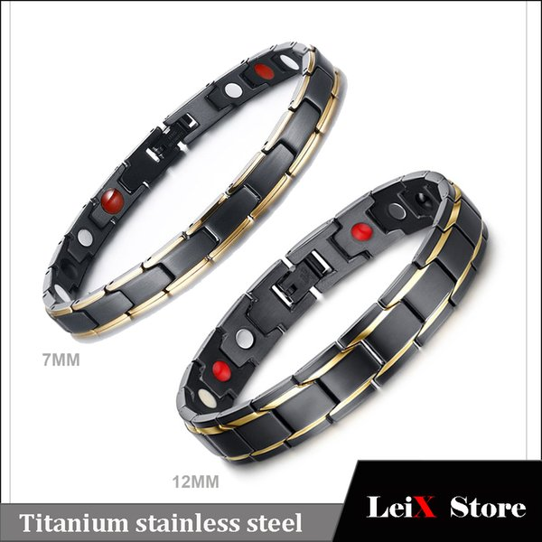 Fashion Designs Mens Womens Titanium Stainless Steel Bio Energy Magnetic Therapy Bracelet Health Care Products