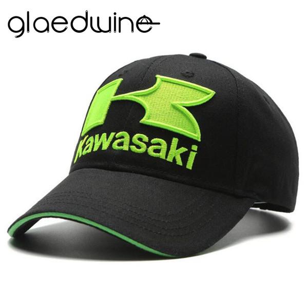 Glaedwine MEN'S FASHION HIP HOP CAPS Motorcycle Racing embroideried kawasaki cap Hat MOTOGP baseball cap dad hat bone Casquette