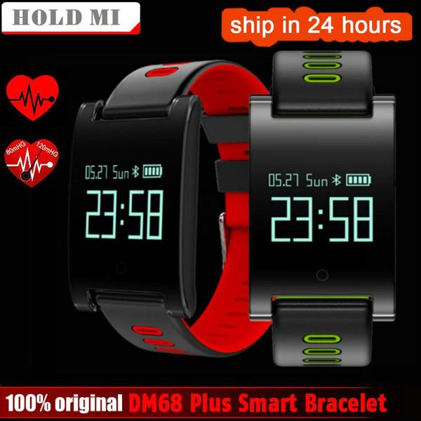 cd248abe5a40 Compre Sostenga Mi DM68 PLUS Pulsera Inteligente Presión Arterial Monitor  De Ritmo Cardíaco Bluetooth Fitness Pulsera Recordatorio De Llamadas ...