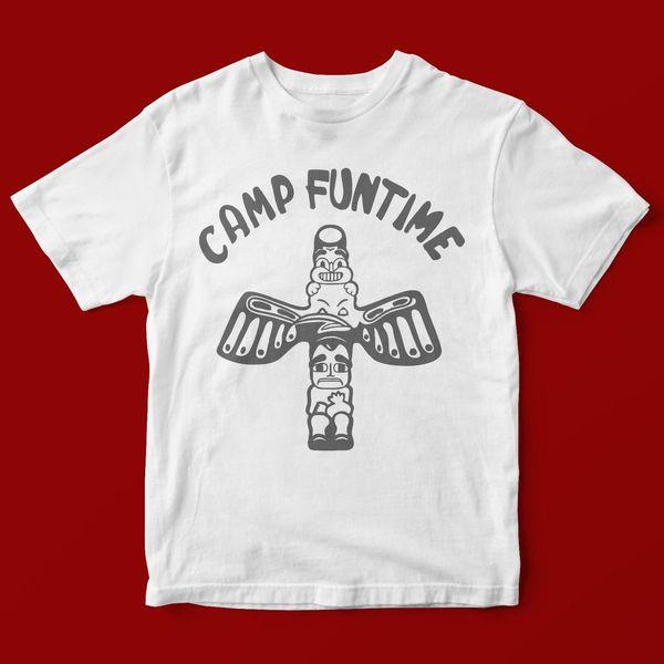 Лагерь FUNTIME футболка унисекс 1299 смешные бесплатная доставка унисекс тройник