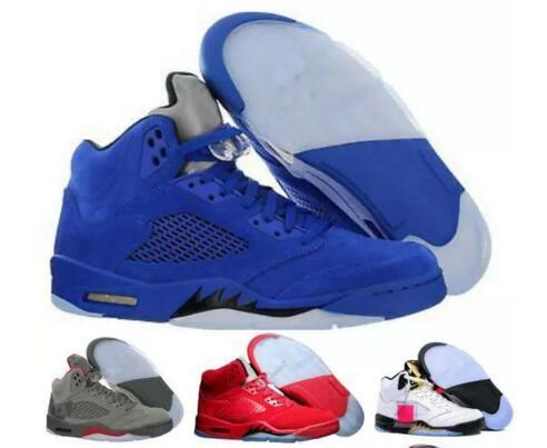 Cheap Basketball shoes 5 5s New Mens Sport Olympic OG Gold Raging Blue Suede Red Blakc Metallic Fashion Sneakers Shoe