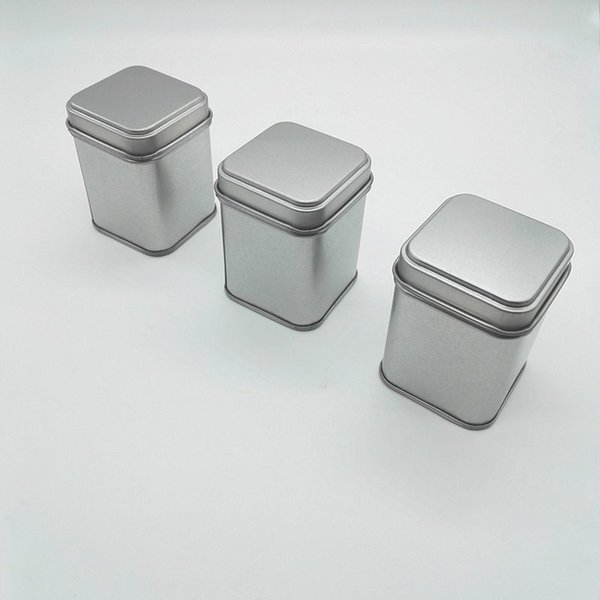 50g Tin Metal Cans Storage Bottles Jars Metal Cans Tea Caddy Mini Candy small sealed canisters portable travel Tea box F20173085