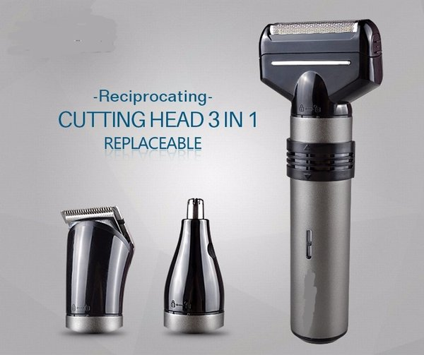 New 3 in 1 Multifunction Reciprocating electric shaver Rechargeable Electric Shaving Razors Washable Men Beard Trimmer Nose Hair Clipper kit