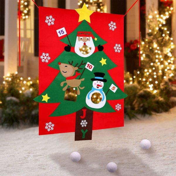 Spiele Weihnachtsfeier.Grosshandel Ourwarm Weihnachtsfeier Spiele Fur Kinder Neujahr Spielzeug Schneeball Weihnachtsbaum Hangende Toss Spiel Spass Indoor Outdoor Home Games