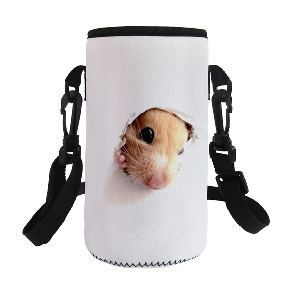ELVISWORDS Cute 3D Design Lunch Bags for Bottle Girls Kawaii Animals Mouse Print Storage Insulation Bag Heater Mom