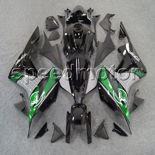 colors+Gifts Injection mold black green motorcycle cowl Fairing for HONDA 2007 2008 CBR600RR F5 07-08 ABS plastic kit