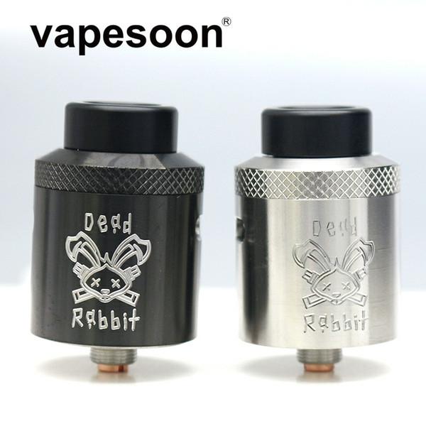 Dead Rabbit BF RDA Atomzer W / Four Post Build Deck & Adjustable Top Side Diagonal Airflow Fit e-Cigarette Squonk Mod