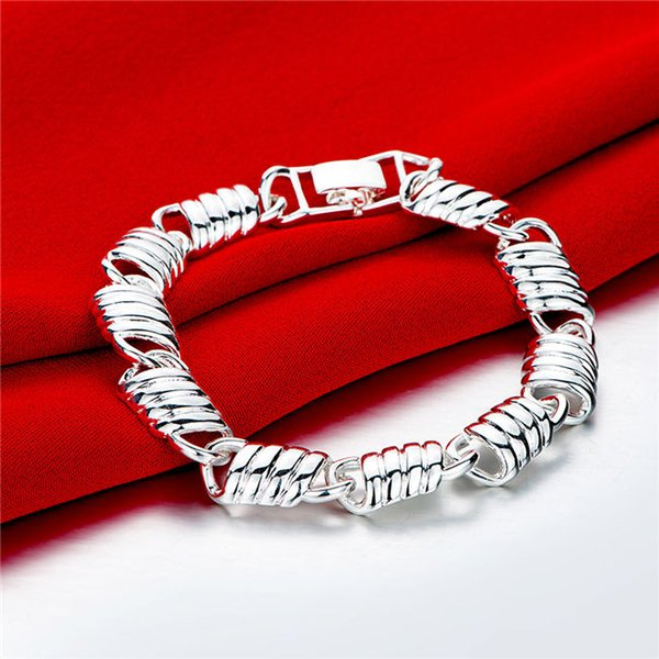 Brand new !Chain chain hand chain sterling silver plated bracelet SPB526;high quatity fashion men and women 925 silver Charm Bracelets