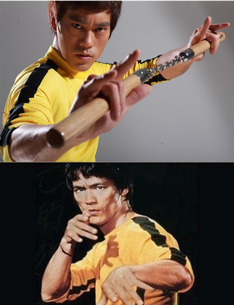best selling New yellow Bruce Lee tight elastic sportswear Children's adult Cosplay Kung Fu Uniforms martial arts sets