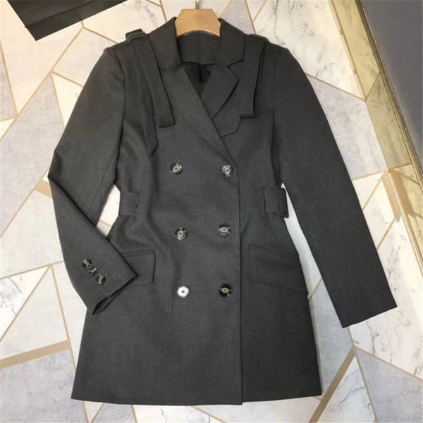 Black Jacket for Women long Sleeve Slim Style Turn-down Collar Lady Coat for Autumn 2018 new Women jacket