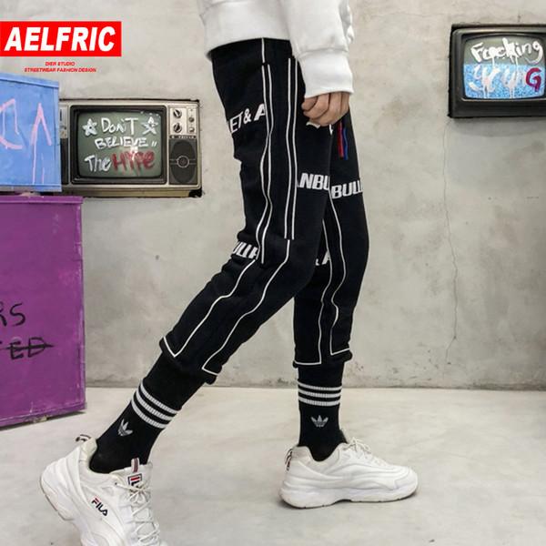 AELFRIC 2018 Patch Design Letter Printing Harem Joggers Men Fashion Harajuku Streetwear Skateboard Sweatpants Track Pants AK02