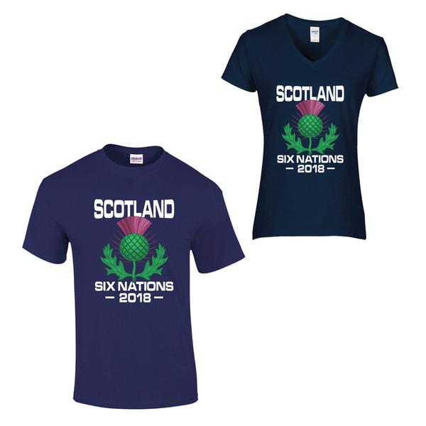 Altı Milletler 2018 T Gömlek Rugby İngiltere Galler İskoçya İrlanda İtalya Fransa Serin Rahat Pride T Gömlek Erkekler Unisex Yeni Moda