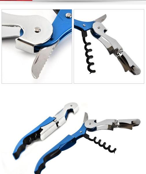 Stainless Steel beer Bottle Opener Corkscrew Wine Cap Opener MultiFunction Knife bottle Opener Double Reach Kitchen Bar Tools Accessories