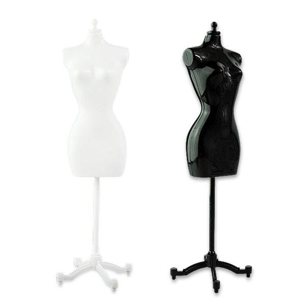 4 pcs (2 preto + 2 branco) feminino Manequim para boneca / monstro / bjd roupas diy presente de aniversário de exibição frete grátis