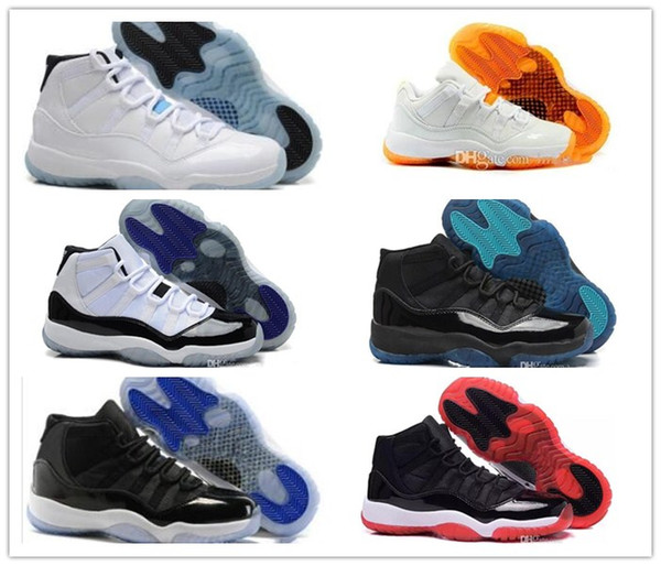 2018 new 11 XI Basketball shoes men and women white Olympic Concord Gamma  Blue Varsity Red Navy Gum Sneaker Metallic Gold sneakers c248642a1b