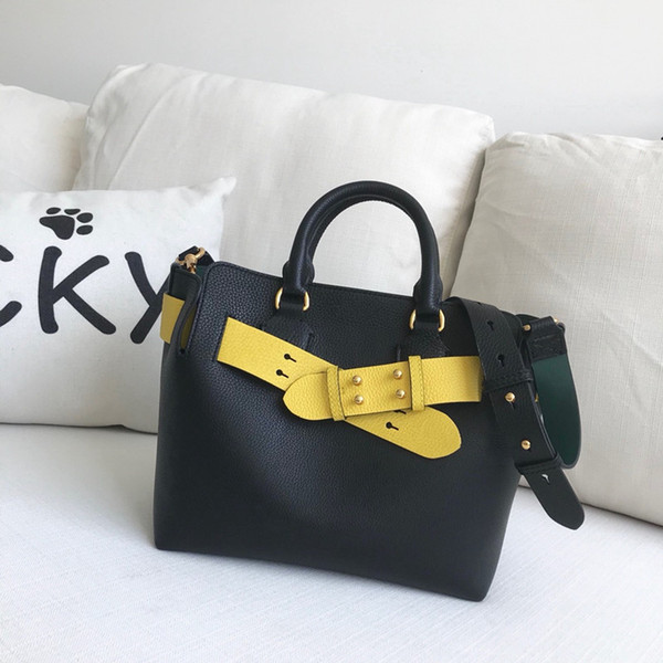 Calf kin luxury belt bag two tone women houlder bag brand de igner the banner tote fa hion handbag