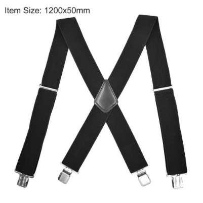 Male Suspenders men 4 Clips 5*120cm Men's casual braces Elastic Pants tirantes Leather Belt Strap Clothing Accessories
