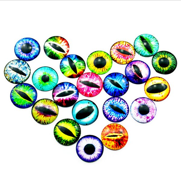 60Pcs 12MM Colorful Dolls Eyes DIY Craft Eyes Dinosaur Animal Time Gem Accessories No Self-adhesive Tempo Kids Toys Gifts