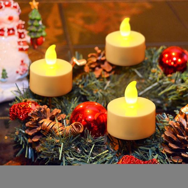 12 pçs / lote Levou Luz de Velas De Vela Sem Chama Luzes Para Decoração de Casamento Brilho Fontes Do Partido Decoração de Festa de Aniversário