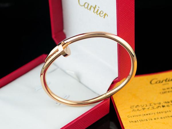 High Quality Celebrity design Letter Metal Buckle Screws diamond bracelet Fashion Metal Cuff bracelet Jewelry With Box