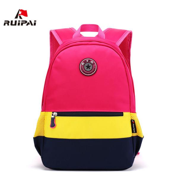 RUIPAI 2017 Nylon Children School Bags Fashion Children BackpacBrand Design Kindergarten kid Backpack Girls Boys Rucksacks