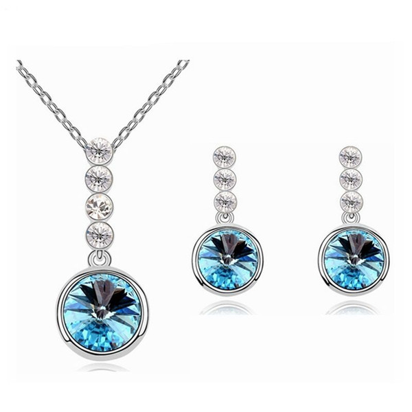 Big brand design Middle Eastern / African Jewelry Set Pendant Necklace Earrings set Crystal from Swarovski