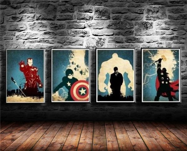 The Avengers -2,4 Pieces Canvas Prints Wall Art Oil Painting Home Decor (Unframed/Framed)