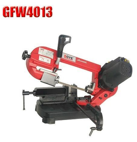 top popular New Hot GFW4013 metal band saw machine 5 inch portable small multifunctional metal woodworking dual band saw machine 2021