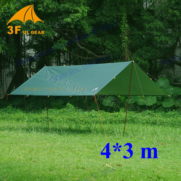 best selling Anti UV 3F UL Gear 4*3m 210T with silver coating outdoor large tarp shelter high quality beach awning
