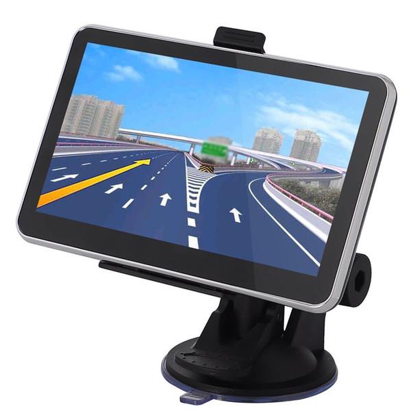 Artículo caliente HD 7 pulgadas Navegador GPS para automóvil Bluetooth AVIN FM 800 * 480 Pantalla táctil 800MHZ WinCE6.0 Más reciente 4GB IGO Primo Mapas