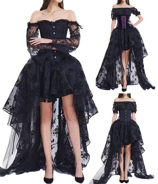 Nouveau Femme Imprimé Floral Taille haute cou crop top une ligne jupe robe Co Ord Set
