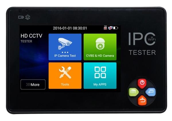 Newest 3.5 inch 2 in1 H.265 4K/H.264 IP+Analog CCTV tester monitor ip camera analog camera testing 1080P ONVIF PTZ wifi 12V1A output