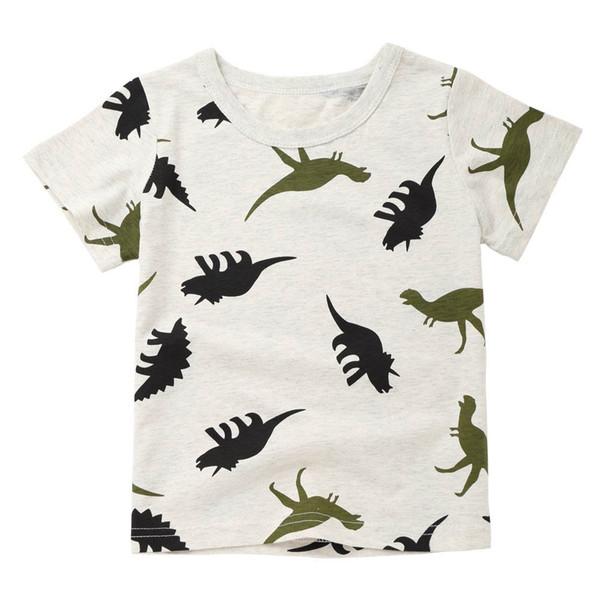 2018 New Fashion Cartoon Children Infant Kid Boys Cartoon Dinosaur Print Pocket T-shirt Tops Shirts Tee dropshipping