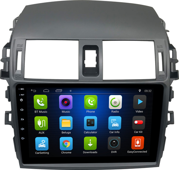 9/10.1 inch Android6.0 car stereo video player GPS navigation radio touch screen /bluetooth/USB/mirror link/ for toyota corolla (2007-2018)
