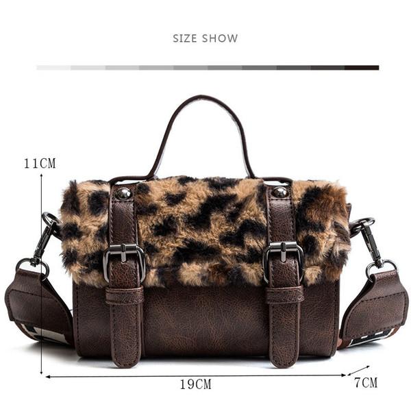 6b4c89f3365c Women Messenger Bag Classic Leopard Handbag Fashion Leather Shoulder Bag  Lady Autumn And Winter Faux Fur Crossbody Bags For Girl Bags For Women  Cheap ...