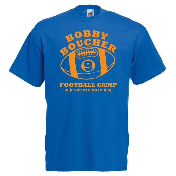 Mens Blue Bobby Boucher American Football Camp Printed T Shirt