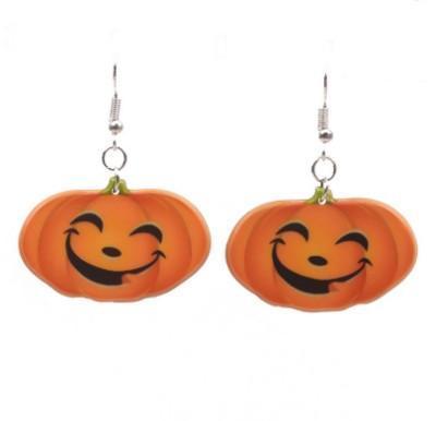 Fun Halloween Pumpkin Earrings Ear Hook Earrings Girls Holiday Gifts Acrylic Pumpkin Charm Drop Dangle Earrings