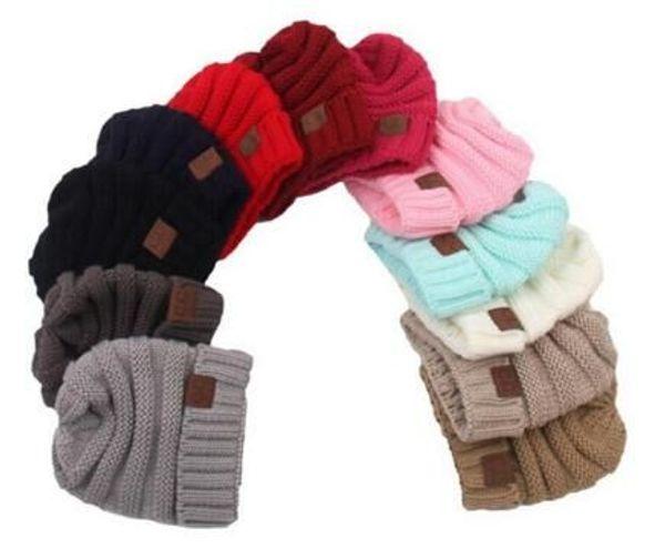 best selling 2018 Baby Hats CC Trendy Beanie Crochet Fashion Beanies Outdoor Hat Winter Newborn Beanie Children Wool Knitted Caps Warm Beanie