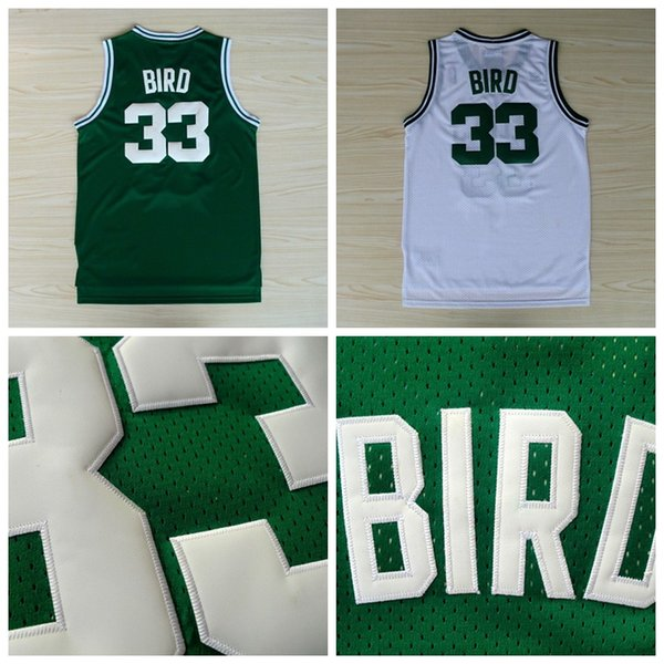 half off 4b5a4 4ff18 2017 Throwback #33 Larry Bird Jersey Green White 100% Stitched Logos Cheap  Wholesale Larry Bird Retro Basketball Jerseys From Topjersey666, $16.94 |  ...
