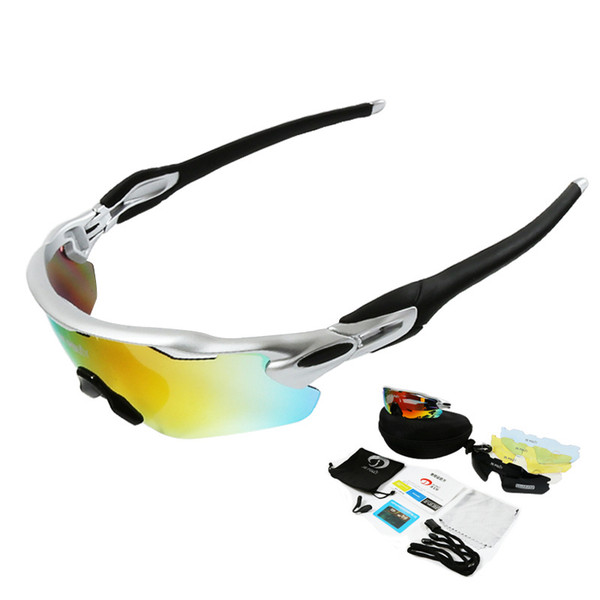 Cycling Glasses Polarized Glasses 5 lens Oculos Ciclismo Cycling eyewear Mountain Bike Goggles UV400 Sunglasses