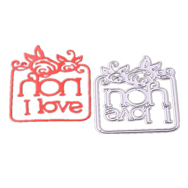 Cutting dies Alphabet album I love you for Cards Scrapbooking and Paper Crafts Embossing folder DIY paper craft Machines