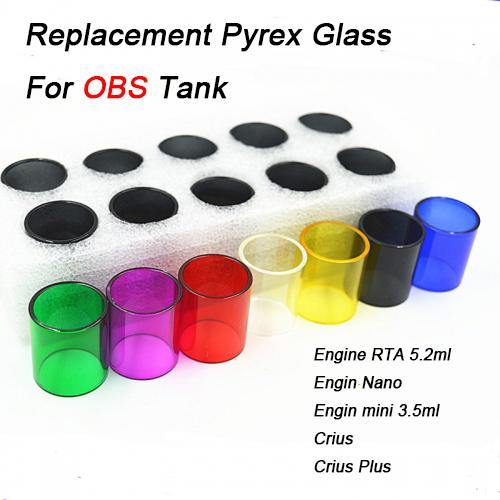 Replacement Pyrex Glass Engine RTA 5.2ml Engin Nano Crius Crius Plus Replacement Glass Sleeve Tube Glass tube Atomizers